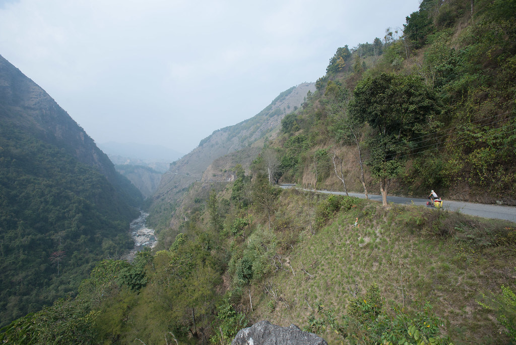 Riding on the edge in Nepal