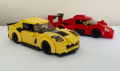 Corvette Z06 + GT-One (wooootles) Tags: lego stingray corvette z06 chevolet moc