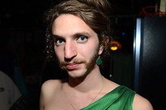 (John Donges) Tags: show green philadelphia bar drag comedy theater group prom mustache gown performers 2177 bobbarbaras dumpstaplayers