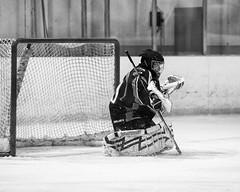 Jenson Manning (mark6mauno) Tags: jensonmanning jenson manning goalie goaltender dallassnipers dallas snipers westernstateshockeyleague western states hockey league wshl 201112 glacialgardens glacial gardens nikkor 70200mmf28gvr nikond3 nikon d3 blackandwhite ar5x4