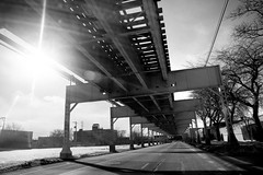 Shifting Gears (Andy Marfia) Tags: road bw chicago iso200 driving cta tracks el l elevated f56 lakestreet 11600sec d7100 1685mm