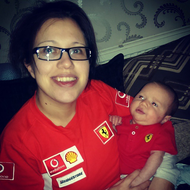 Annabelle and Ruby enjoying the f1 highlights after a nice mothers day meal. Go Ferrari!! #Ferrari #formula1 #f1 @bbcsport #bbc1 #australia