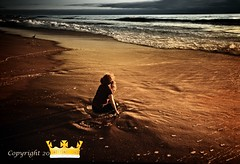 Waiting for her prince to come (ellie 6) Tags: ocean sky girl landscape waiting prince shore blueribbonwinner firstquality artlibre platinumphoto ultimateshot superbmasterpiece diamondclassphotographer flickrdiamond megashot theperfectphotographer nofrogsplease