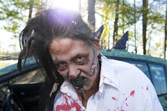 Zombie Kimi and Eyegore II (Paul McRae (Delta Niner)) Tags: costume zombie makeup artcar 173 acp kimibainter eyegoreii