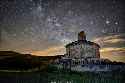 Vía Láctea, Iglesia Santa Maria de Eunate (Navarra)