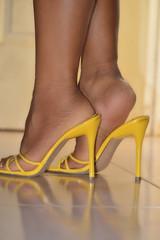 Yellow Shoes (lupita2008) Tags: feet yellow shoes legs pies sexys mules sandalias lupita piernas amarillos