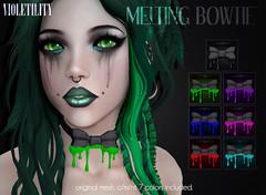 Violetility Melting Bowtie (Violetility) Tags: melting sl secondlife dsf tdsf originalmesh darkstylefair