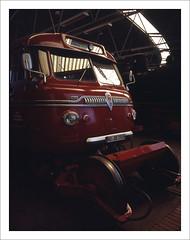 rairoad heritage - part of series - 8 (macfred64) Tags: railroad 120 film mediumformat 645 railway slide chrome transparency 6x45 fujiprovia100f eisenbahnmuseumbochumdahlhausen fujiga645wi fujinon45mmf4 railroadheritage