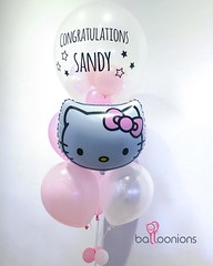 "Congratulations ""SANDY"" ช่อ18""+ฟอยด์การ์ตูน น่ารักไปอีกแบบไลน์ขอดูลายได้เลยน้าา ของเข้าใหม่เพียบบบบบ 😁🎉   Thank you khun @kadong for always support #balloonions"