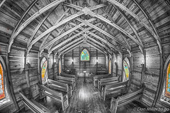 Mary's Chapel at Historic Spanish Point (DonMiller_ToGo) Tags: bw blackwhite florida nik hdr bwphotography spanishpoint blackandwhitephotography 3xp hdrphotography d5500