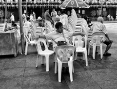 Singapore | Chinatown (-Faisal Aljunied-) Tags: blackandwhite monochrome singapore chinatown chairs streetphotography gr ricoh bwstreetphotography faisalaljunied