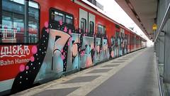 Graffiti (Honig&Teer) Tags: railroad streetart train steel eisenbahn hannover urbanart sbahn railways treno aerosolart spraycanart traingraffiti trackside trainart railroadgraffiti honigteer eisenbahngraffiti