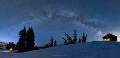 Milky Way Over Elfin Lake (Ding Ying Xu) Tags: nightphotography panorama lake canada frozen bc trail astrophotography garibaldi frozenlake milkyway
