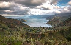 Volcanic Lake of Danau Toba (muhammadhilmi.harun) Tags: lake indonesia landscape cloudy stunning traveling volcanic toba danau sumatera photoghraphy northsumatera sipisopiso