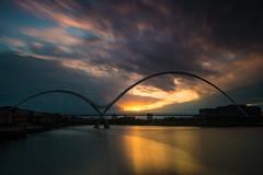 _DSC9802 (adam_reynolds) Tags: bridge sunset water river infinity stockton tees