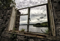A Room with a View (Jon_Wales) Tags: old sky lake building broken window water wales view cymru reservoir abandonded welsh pontsticill derelict powys