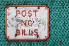 Post No Bills (Rory Prior) Tags: city urban detail sign manchester streetphotography lattice