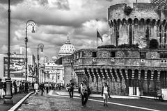 ROMA - la Basilica di San Pietro vista da Castel Sant'Angelo (massimo mazzoni 78) Tags: blackandwhite bw rome roma bn sanpietro bnw castelsantangelo