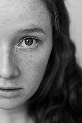 (maddieslevin) Tags: light portrait people blackandwhite white black eye face 35mm canon hair lens person eyes faces 5 freckles humans lightroom canon5dmarkii