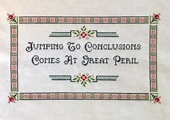 Jumping to conclusions (Cross-stitch ninja) Tags: crossstitch embroidery crafts pluto xstitch