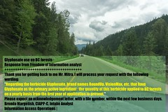 Pesticide on BC forests and effect on wildlife (tonymitra) Tags: trees toxicity poisons pesticidesherbicides nongmoplants glyphosateusecanada