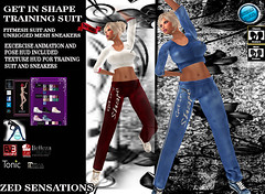 Get into shape fm outfit (Zed Sensations) Tags: eve fashion shirt training jump slim pants exercise mesh top fine running curvy sneakers suit sweat casual gym tonic sensations isis animations tracksuit freya belleza zed aerobics physical physique hourglass fitted maitreya slink pulpy fitmesh
