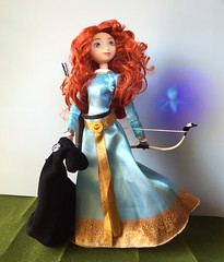 Princess Merida of Clan DunBroch (Richard Zimmons) Tags: ginger doll barbie redhead merida pixar brave disneystore