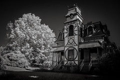 (Rodney Harvey) Tags: vermont architecture gothic ornate infrared spooky haunted eerie scary house middlebury