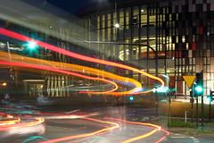 Centrum Kongresowe ICE Krakw (h3rmes) Tags: longexposition krakw krakow lights cars night