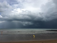 Rain storm over broadstairs (Speckled Jim) Tags: sky storm beach rain kent broadstairs