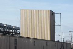 Very Angular 03082015 (Orange Barn) Tags: buildings beige industrial siding paleblue