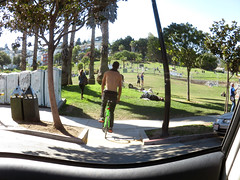 2015 - 365 #77 (danieljsf) Tags: sanfrancisco california park shirtless fisheye biker bicyclist dolores dolorespark