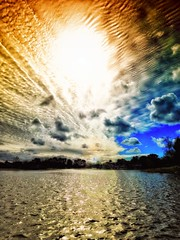 North Lake (/\ltus) Tags: california sky sun lake clouds socal southerncalifornia orangecounty oc irvine theoc woodbridge northlake nothdr
