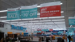 Looking Down the Front (2) (Retail Retell) Tags: 2 lake retail moving looking sale down front ms horn closing officemax