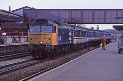 Multi Coloured Stock (pete.callaway) Tags: oxford britishrail class47 largelogo 47431