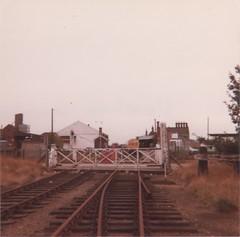 1981.xx.xx Dereham 03 (Herbert Skardon) Tags: uk england br norfolk railway special 1981 levelcrossing britishrailways dmu dereham eastdereham railwayspecial derehamline