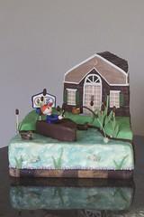 Veterinarian Retirement Cake (allcakesgreatandsmall) Tags: cake fishing retirement fondant