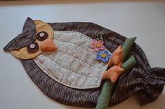 Puxa-saco Coruja (Criao Exclusiva da Ane) Tags: coruja lixo marron cozinha organizao saquinhos puxasaco