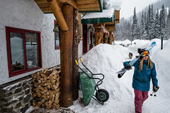 Taking a stroll through Bell 2 chalets (Last Frontier Heliskiing) Tags: wood travel chris trees 2 storm ski tree mike last creek booth skiing bell suz lodging smoke chest north deep powder stuart blow ripley lodge safari helicopter waist pow pnw graham heli frontier glade blower skiers heliski heliskiing glades bell2 helicopterskiing heliskibc lastfrontierheliskiing belltwo