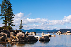 Sand Harbor Lake Tahoe (fate atc) Tags: usa pinetree nevada laketahoe bluesky clearwater sandharbor roundrocks