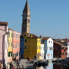 Burano (Bernard - G) Tags: color italia couleurs maisons glise italie burano veneto