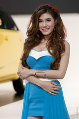Min - MG (Chaiyapat_H) Tags: woman cute sexy girl model pretty bangkok min motorshow 2015