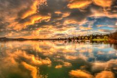 sunset (sk0o) Tags: sunset cloud lake color nature golden high luca pentax fisheye piemonte hour 8mm range k7 dinamic viverone samyang anzasco lucaschinetti schinetti