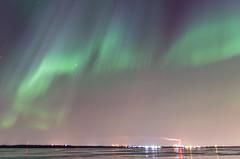 Northern lights over Oulu (Juho Holmi) Tags: city winter sea ice nature night suomi finland photography lights finnland aurora finnish oulu northern norra talvi meri borealis finlandia revontulet sterbotten ostrobothnia uleborg permeri herukka pohjoispohjanmaa kuivasmeri