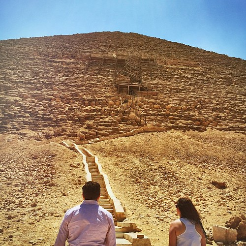 "#Enlight @elitmer & @abracadabratravels say, ""yeah, we're going up there."" #ClimbingPyramids #Pyramids #Dashur Egypt #Antiquities #Ancient #ComeToEgypt #Cairo #WeAllWentToThere"