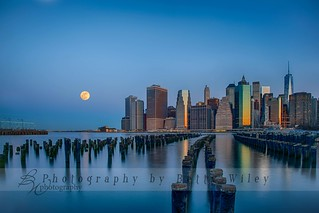 Moonset over NYC