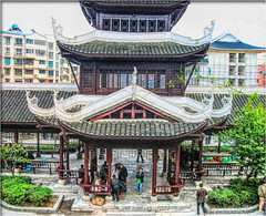 The chess players (Bruno Zaffoni) Tags: china park architecture play chinese chess guizhou cina openair kaili