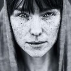 Anna (zbigniew wakowski) Tags: portrait woman art wow mono freckles