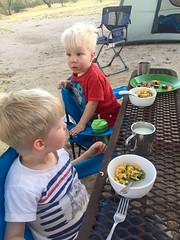 20160422_Ryan_Phone_0001.jpg (Ryan and Shannon Gutenkunst) Tags: camping usa dinner bench tucson az tent hotdogs waterbottle macncheese catalinastatepark carsongutenkunst codygutenkunst kidcampingchairs