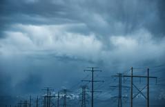 Find the Plane (Karen McQuilkin) Tags: lines utah skies power flight stormy findtheplane karenmcquilkin
